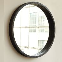 Round Mango Wood Mirror | west elm