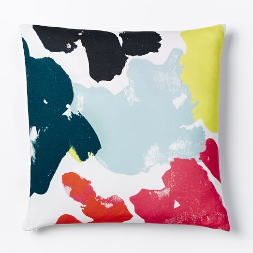 Floral Study Pillow Cover  Habanero  west elm