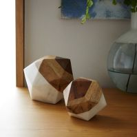 Marble + Wood Geometric Objects | west elm