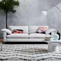 Marble-Topped Pedestal Coffee Table - Gray Marble/Antique ...