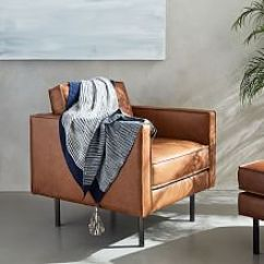 Emil Leather Slipper Chair Amazon Adirondack Chairs Living Room | West Elm