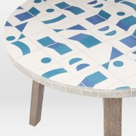 Mosaic Tiled Bistro Table - Two Tone Geo | west elm