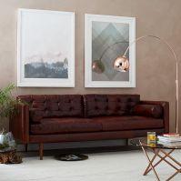 "Monroe Mid-Century Leather Sofa (80"")   west elm"