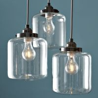 3-Jar Glass Chandelier | west elm