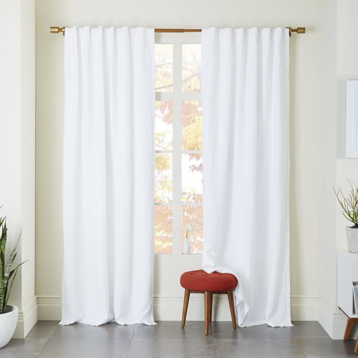 Linen Fabric Curtain Linen Fabric Drape West Elm