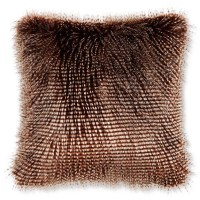Faux Fur Pillow Cover, Brown Owl Feather | Williams-Sonoma