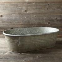 Vintage Galvanized Bathtub Planter | Williams-Sonoma