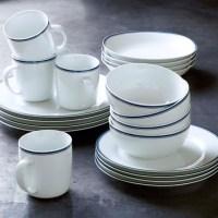 Williams-Sonoma Open Kitchen Blue Bistro Dinnerware ...