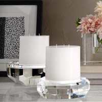 Faceted Crystal Pillar Candle Holder | Williams-Sonoma