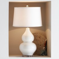 Hollis Ceramic Table Lamp, White   Williams-Sonoma