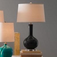 Stinson Ceramic Table Lamp, Charcoal   Williams-Sonoma