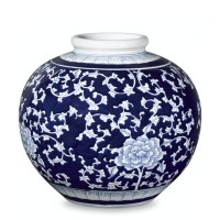 Blue & White Ginger Jar Round Vessel | Williams-Sonoma