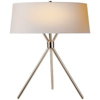 Dawson Table Lamp, Polished Nickel