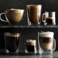 Double-Wall Glass Coffee Cups, Set of 2 | Williams Sonoma