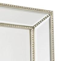 Channing Silver Beaded Floor Mirror | Williams Sonoma