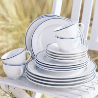 Apilco Tradition Blue-Banded Porcelain Dinnerware ...