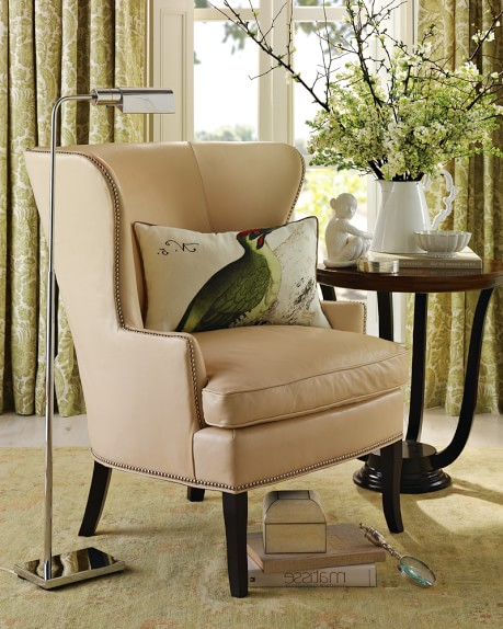 foam cushion inserts for chairs burlap chair sashes australia chelsea wing leather | williams-sonoma