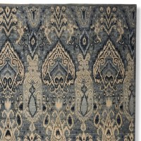 Hand-Knotted Wool & Silk Ikat Rug | Williams Sonoma