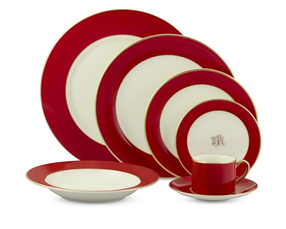 Pickard Color Sheen Dinnerware Collection, Red Gold