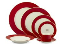 Pickard Color Sheen Dinnerware Collection, Red Gold ...