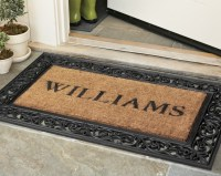 Personalized Rubber Scroll & Coir Doormats | Williams-Sonoma