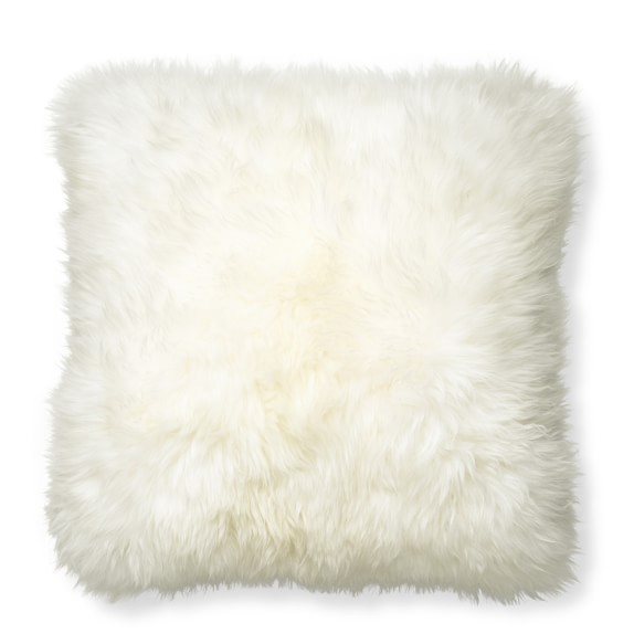 Sheepskin Pillow Cover, Ivory