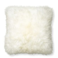 Sheepskin Pillow Cover, Ivory | Williams Sonoma
