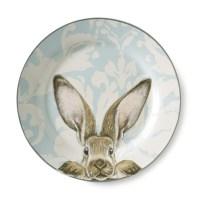 Damask Bunny Dinner Plates, Set of 4   Williams Sonoma