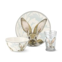 Damask Bunny Kids Melamine Dinnerware Set | Williams Sonoma