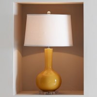 Stinson Ceramic Table Lamp, Yellow   Williams Sonoma