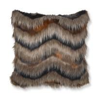 Faux Fur Pillow Cover, Chevron | Williams Sonoma