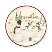 Snowman Dinner Plates, Set of 4 | Williams Sonoma
