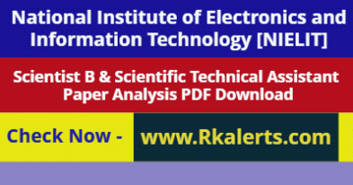 NIELIT Scientist B Answer Key 2020 Scientific Technical Assistant Answer key 2020