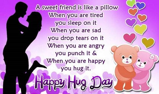 New Latest Hug Day Special Status For Whatsapp Facebook