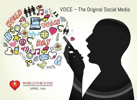 16 April World Voice Day Logo Poster Banner DP HD Pictures