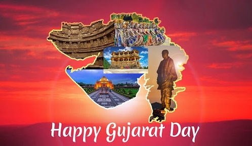 1 May Gujarat Day images Happy Gujrat Sthapna Diwas images