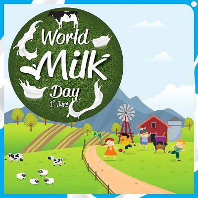 Happy World Milk Day images HD Photo World Milk Day Painting Drawing