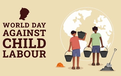 Child Labour Poster With Slogan Anti Child Labour Day Poster Drawing
