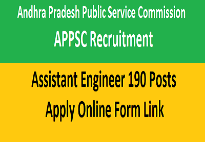 APPSC AE Recruitment 2021 Assistant Engineer Vacancy Online Form