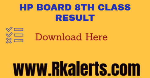 HPBOSE 8th Result 2021
