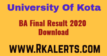 UOK BA Final Year Result 2020 name wise private regular