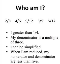 Fourth Grade Math Lesson – Who Am I Fraction Puzzles   Rachel Kappius [ 1290 x 982 Pixel ]
