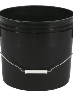 3 1/2 Gallon Black Bucket