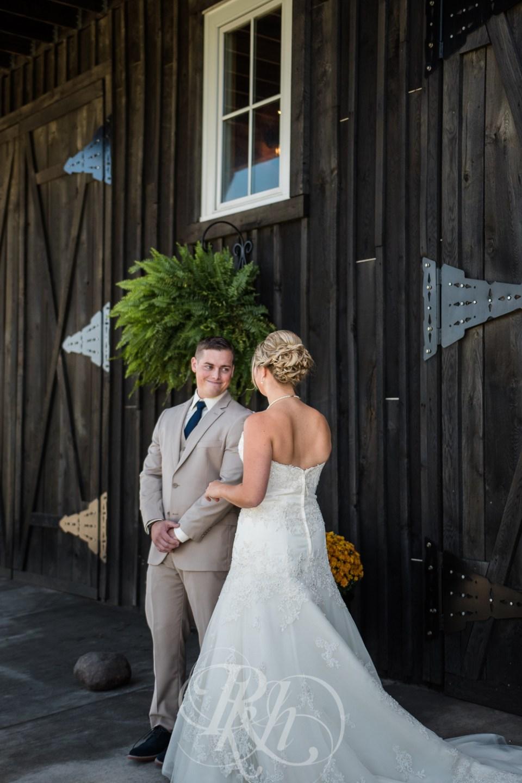 Farm wedding first look