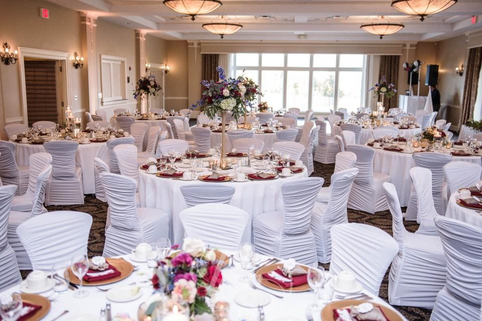 Minneapolis Golf Club wedding layout