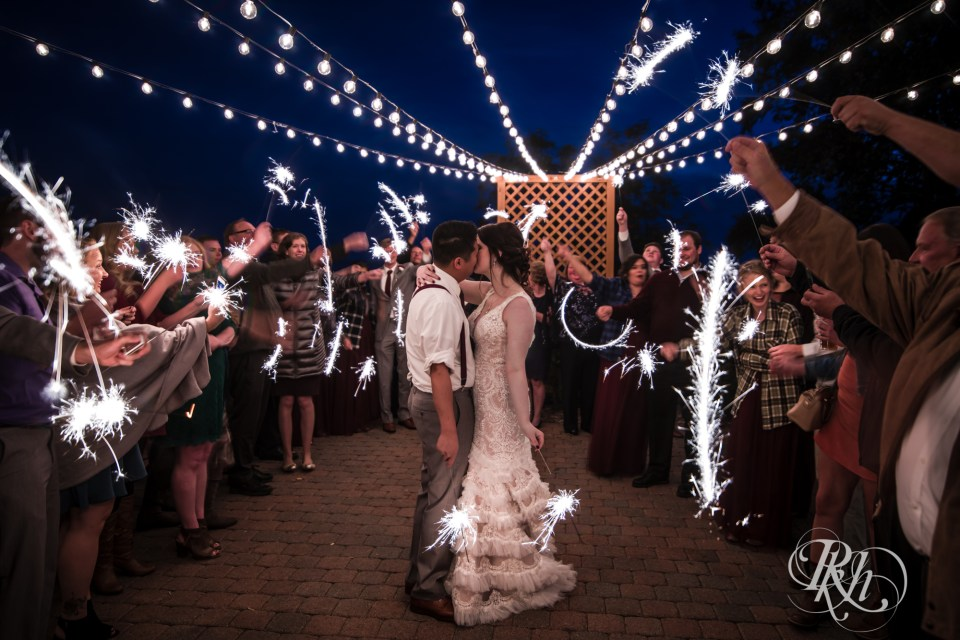 two harbors wedding sparkler