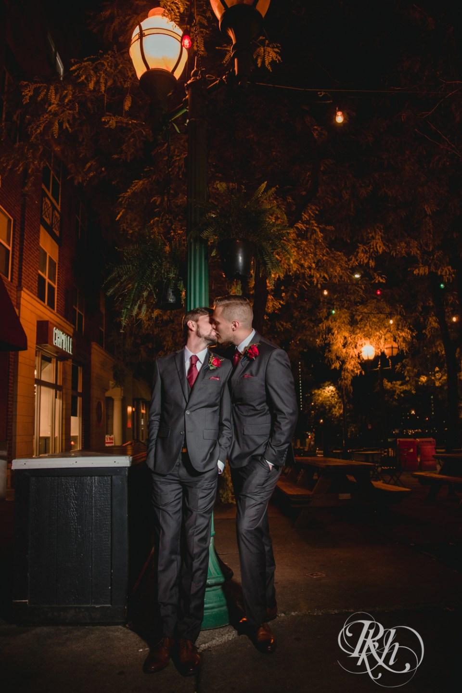 grooms kissing