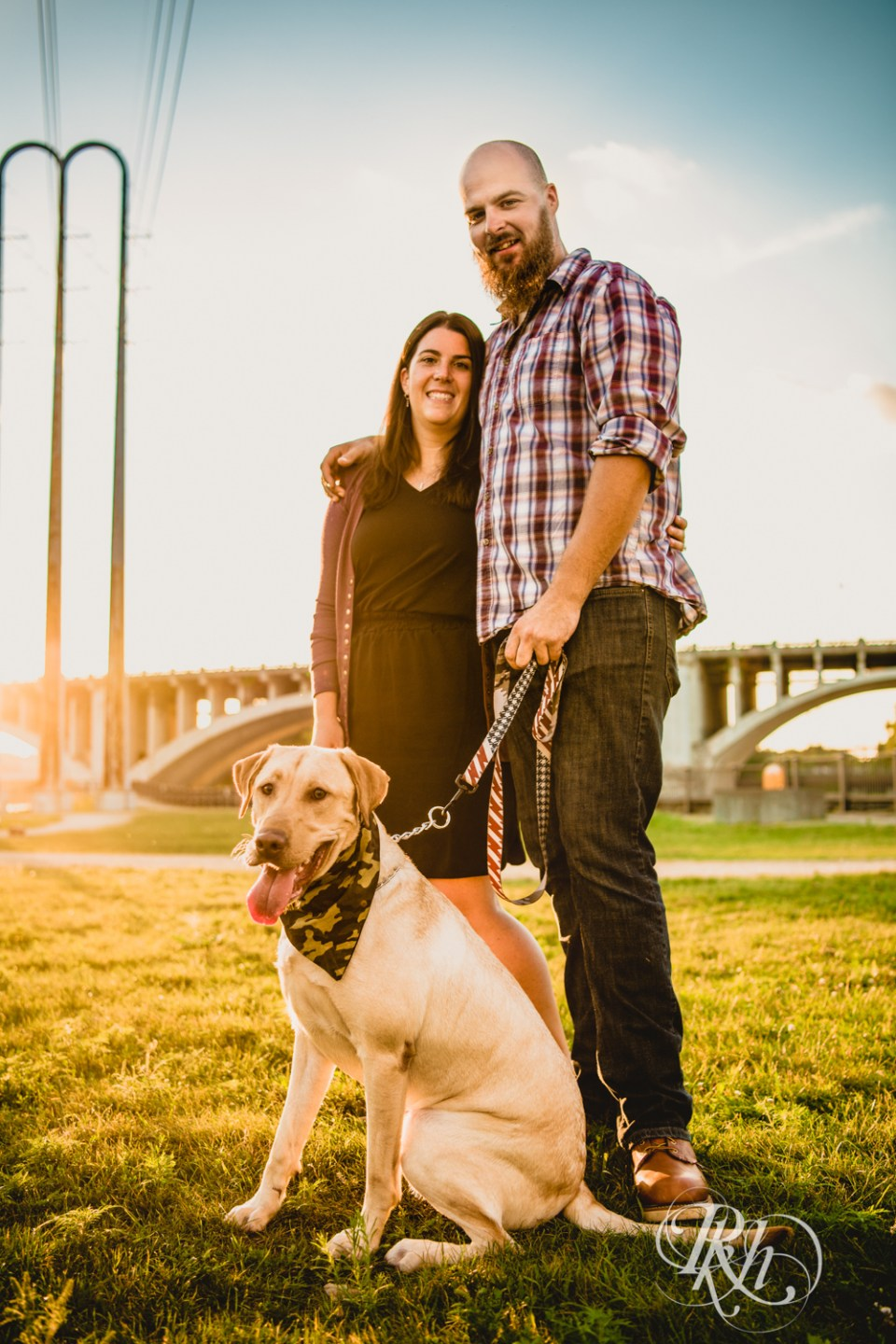 Puppy engagement photography