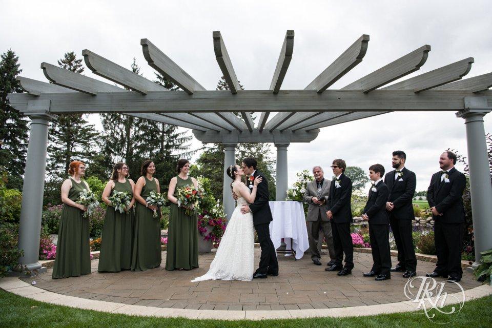 Sunday wedding ceremony at Olympic Hills Golf Club