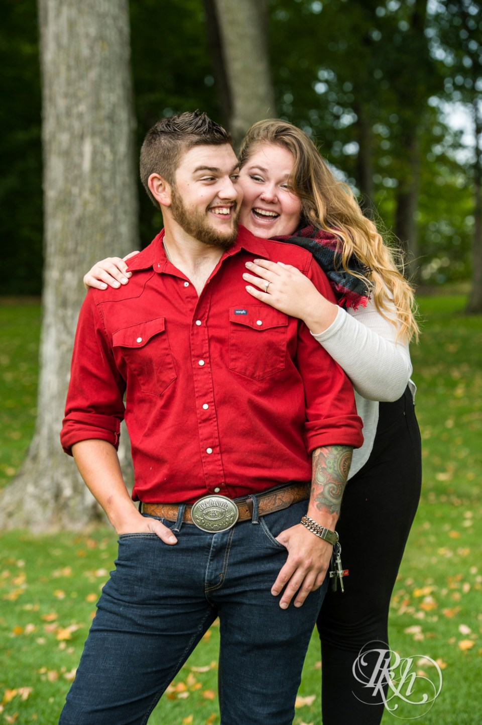 Plymouth engagement photography couple laughing